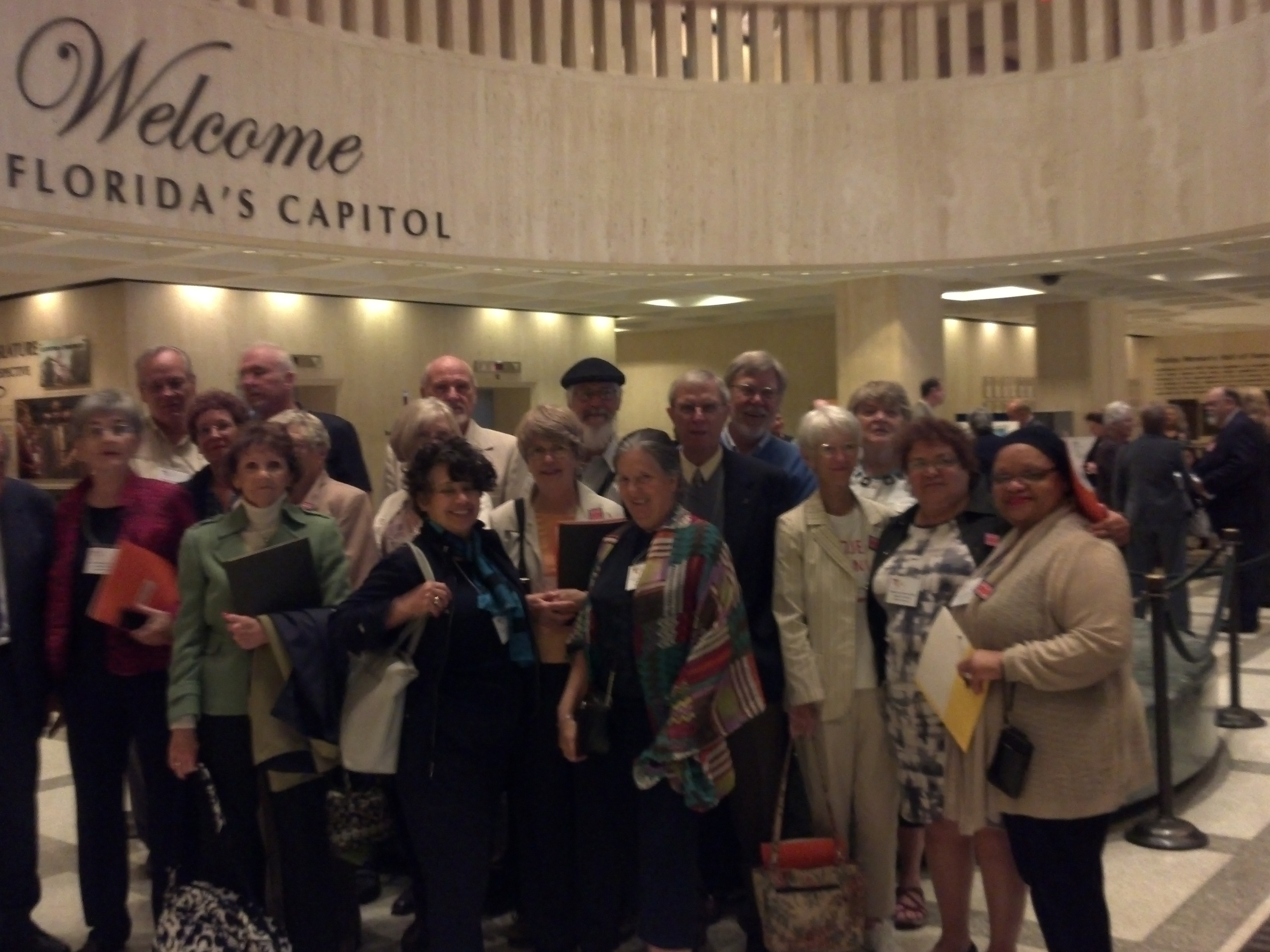 UUFBC delegation lobbying with UU Justice Florida