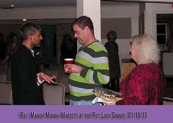 Welcome Rev. Manish Mishra Marzetti 01/19/13