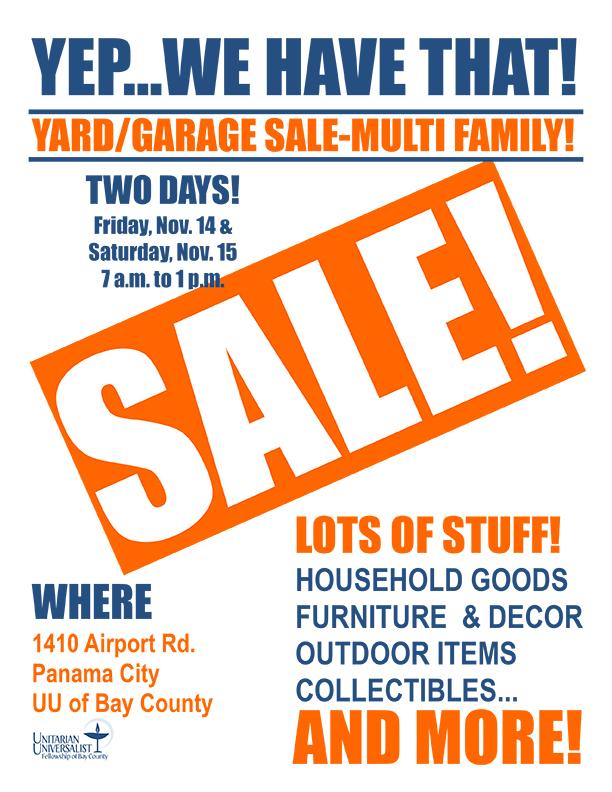UU Garage Sale 11-14-15